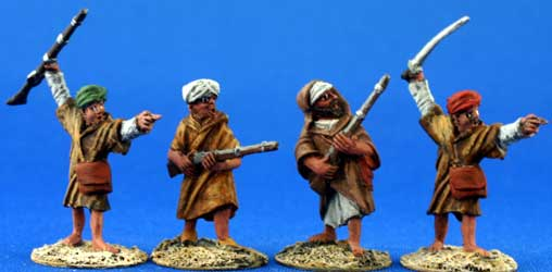 Moroccan Berbers in djellabah with rifles