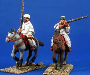 Berber Cavalry charging with muskets