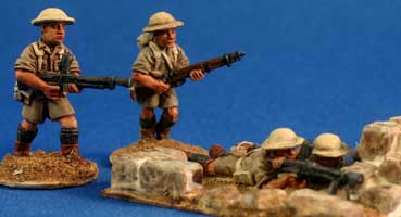 British Desert Infantry Bren teams