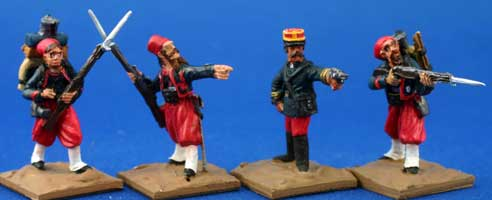 Zouaves firing (Unit Pack)