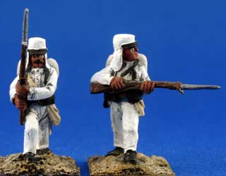 Foreign Legion in white campaign uniform with pack