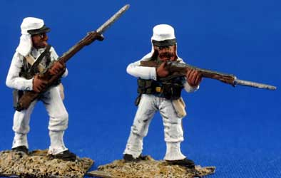Foreign Legion in white campaign uniform without pack