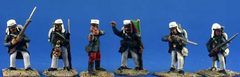 Foreign Legion or Joyeux, blue overcoat (Unit Pack)