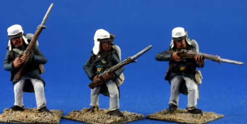 Foreign Legion Infantry in blue overcoat