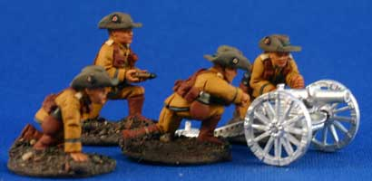 German Schutztruppe Mountain Artillery Crew - Click Image to Close