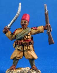 Askari NCO with sword and rifle