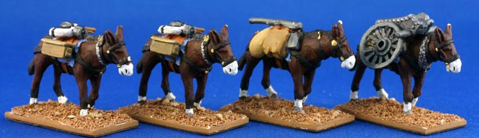 French Mountain Artillery Mules