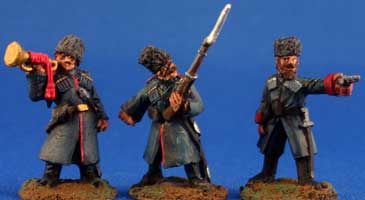 Caucasian Cossack Command on foot - Click Image to Close
