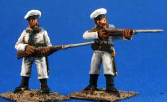 Russian/German Sailors, shore duty, heavy kit