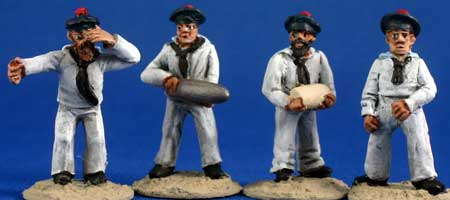 French Naval Heavy Gun Crew