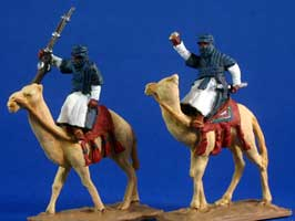Tuaregs mounted on camels - Click Image to Close